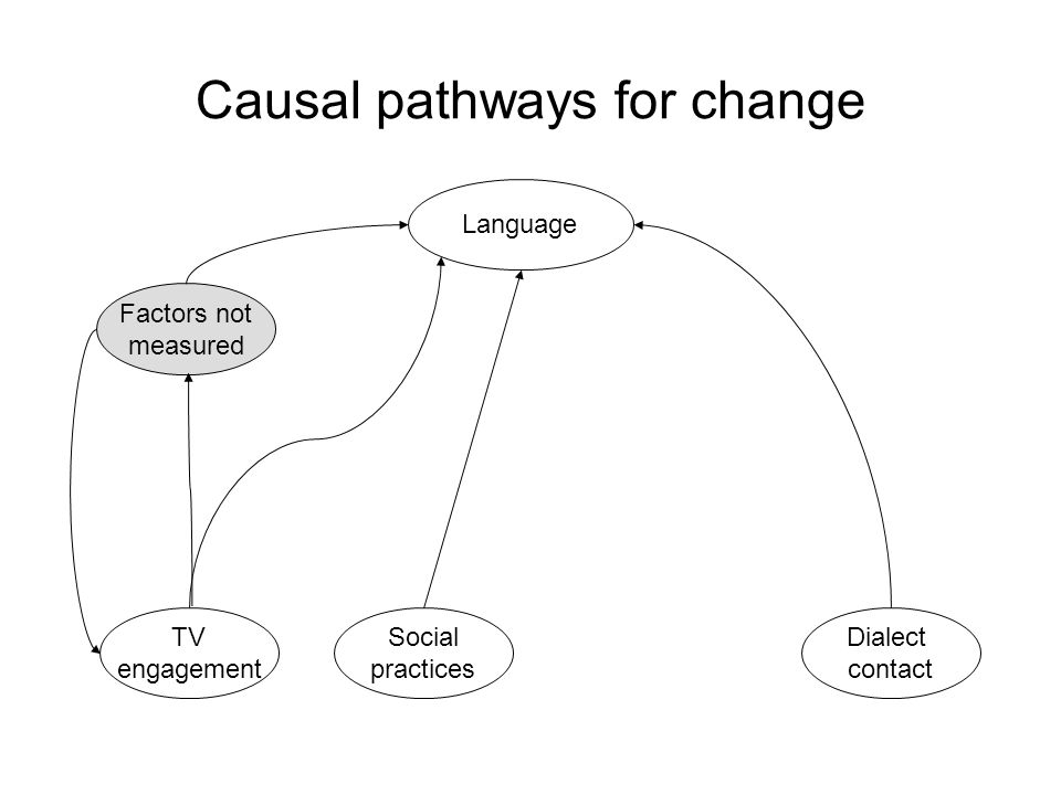 Causal pathways for change