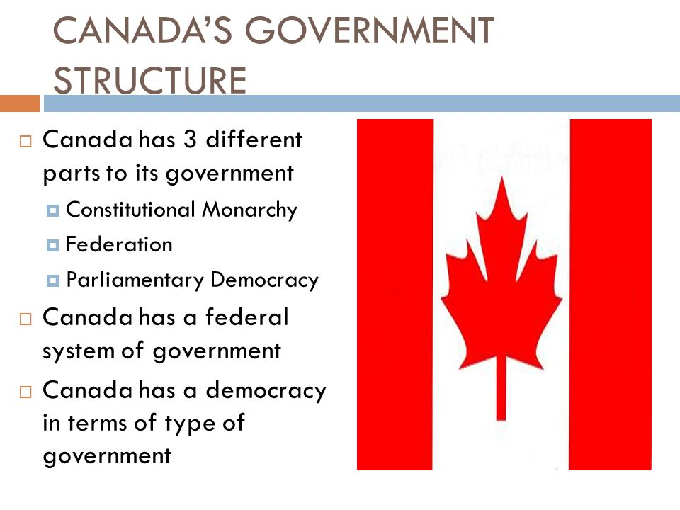 ELEMENTS Describe the structure of the Canadian government ...