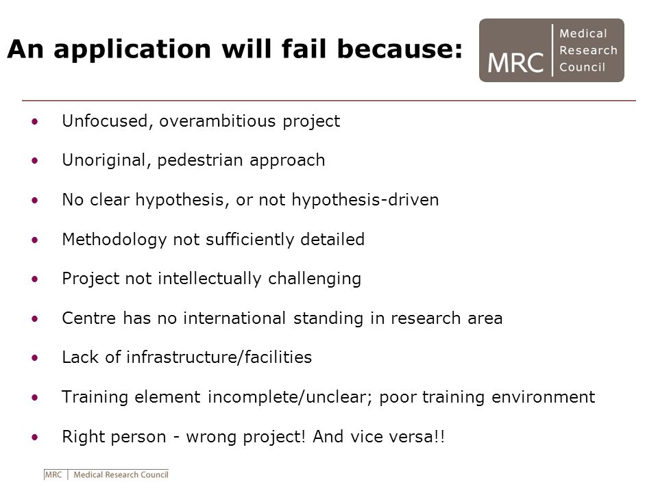 An application will fail because: