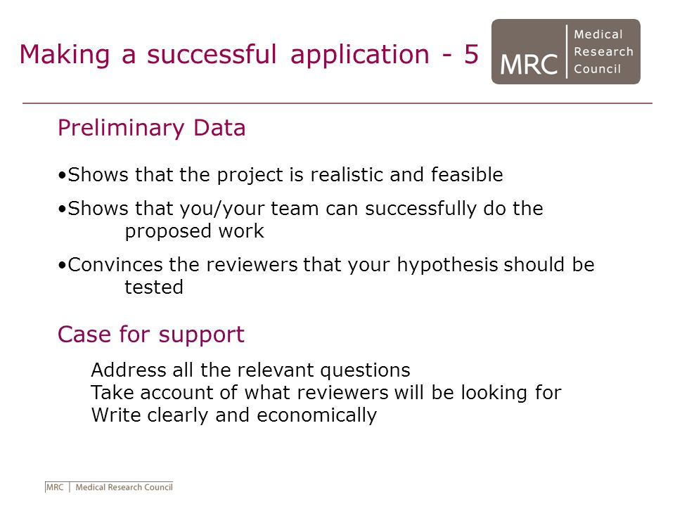 Making a successful application - 5
