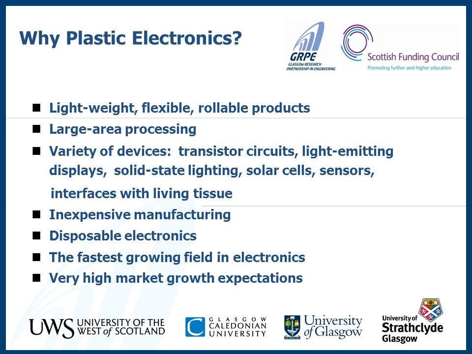 Why Plastic Electronics