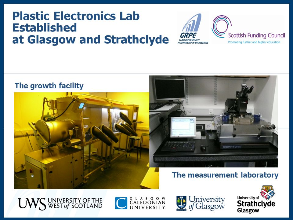 Plastic Electronics Lab Established at Glasgow and Strathclyde