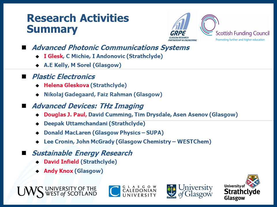 Research Activities Summary