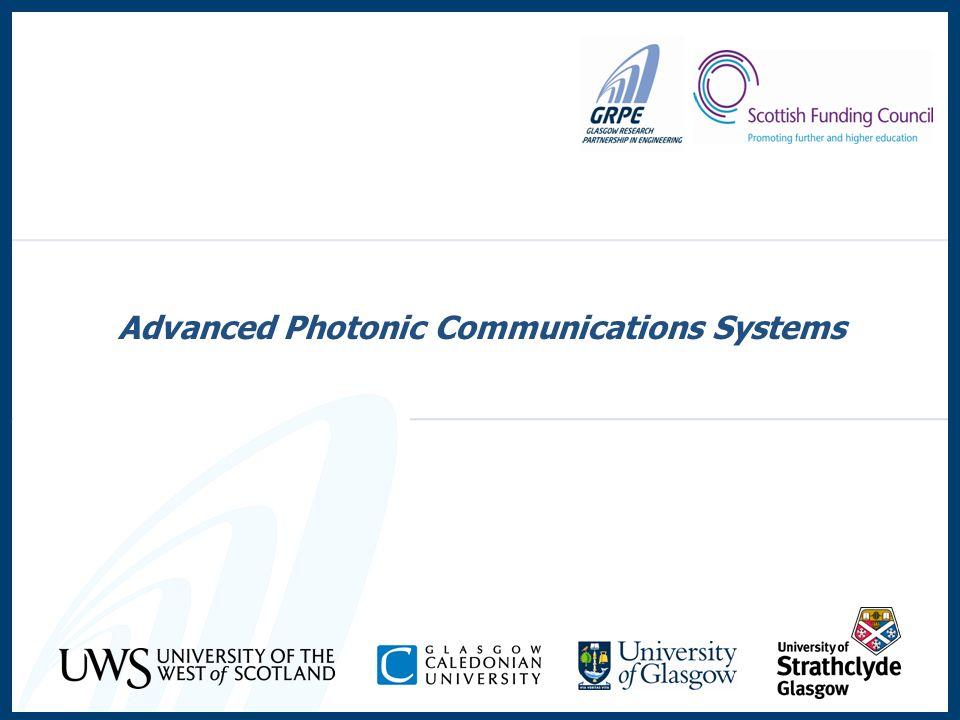 Advanced Photonic Communications Systems