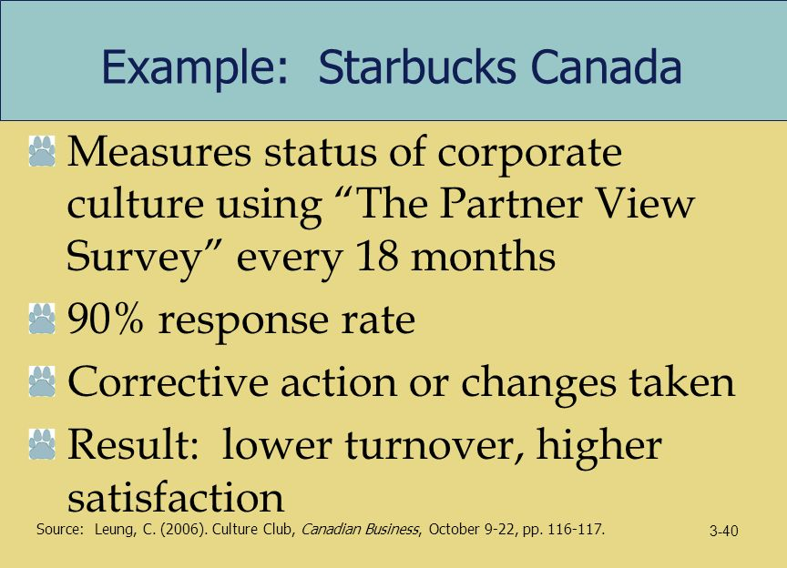 organizational effectiveness at starbucks A company's organizational culture widely influences employees and business  performance in starbucks coffee's case, the company's.