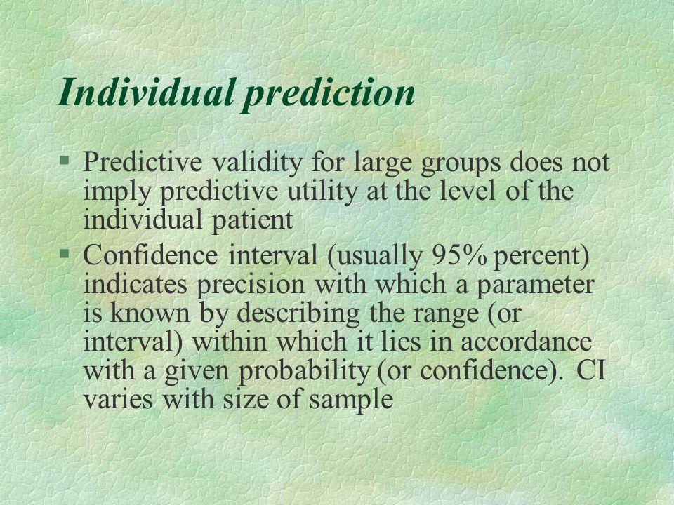 Individual prediction