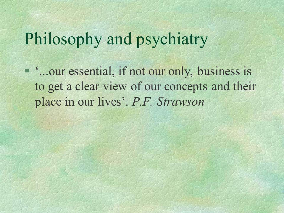 Philosophy and psychiatry