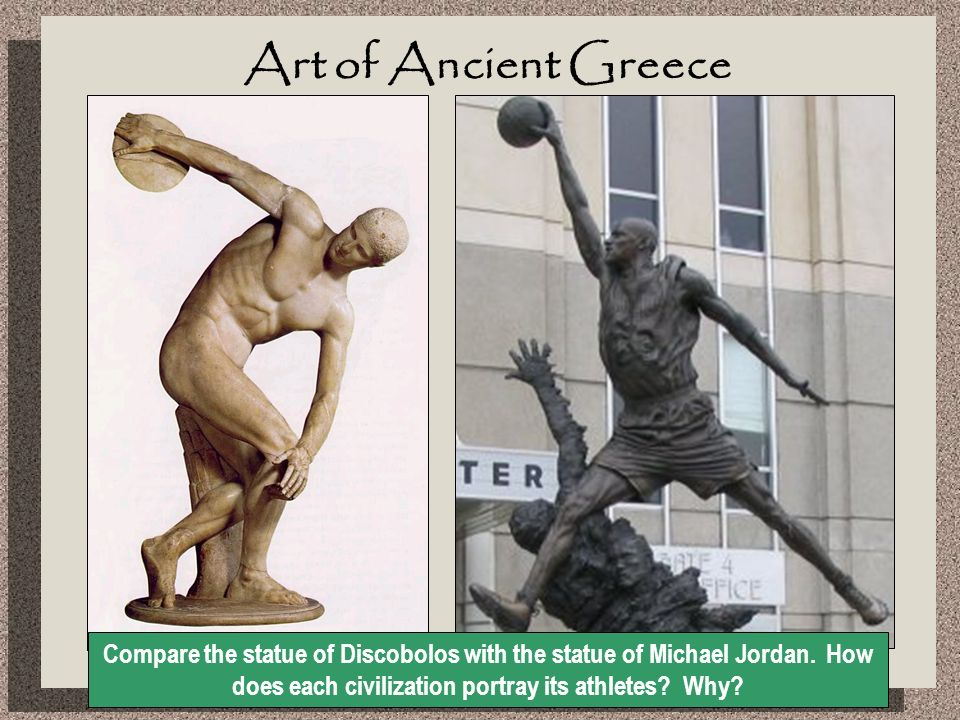 differences between ancient greek sculptures and ancient egyptian sculptures