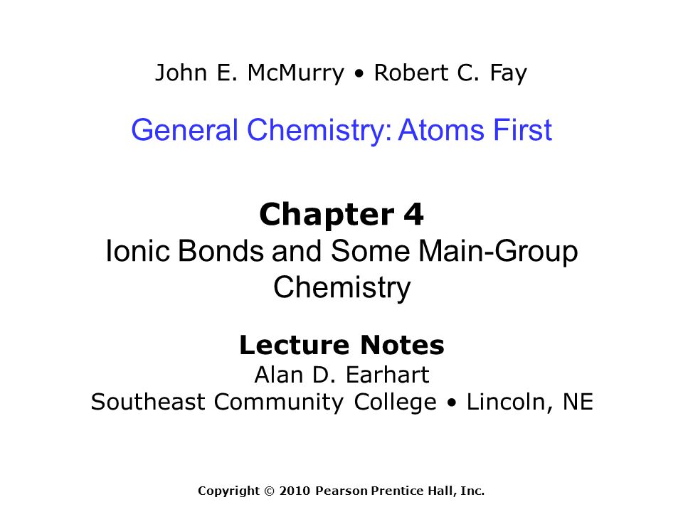 chapter 4 ionic bonds and some main group chemistry ppt video rh slideplayer com Pearson Chemistry Solutions Pearson Chemistry Textbook Online