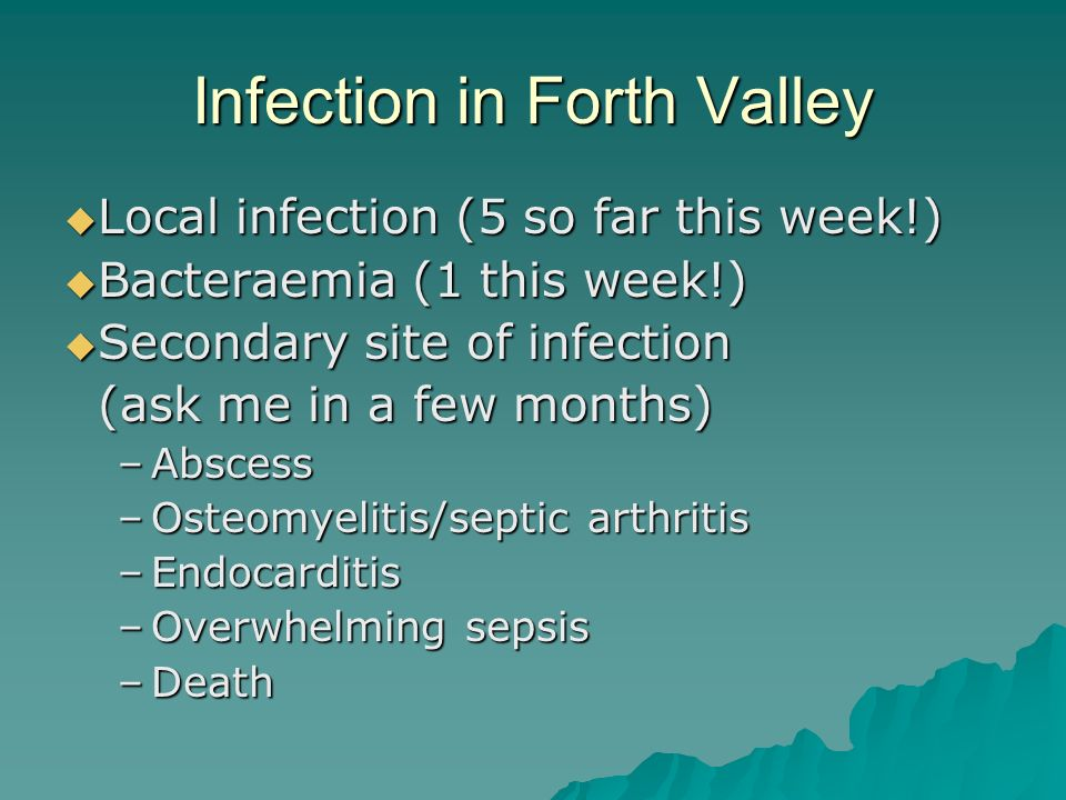 Infection in Forth Valley