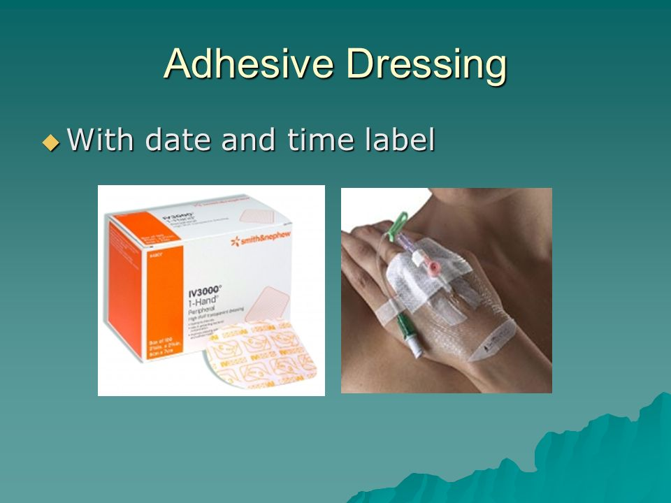 Adhesive Dressing With date and time label