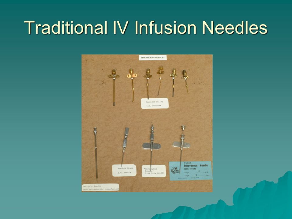 Traditional IV Infusion Needles