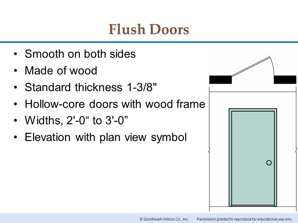 Flush Door Plan Elevation Section : Chapter doors and windows