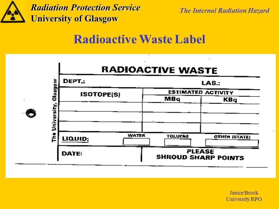 Radioactive Waste Label
