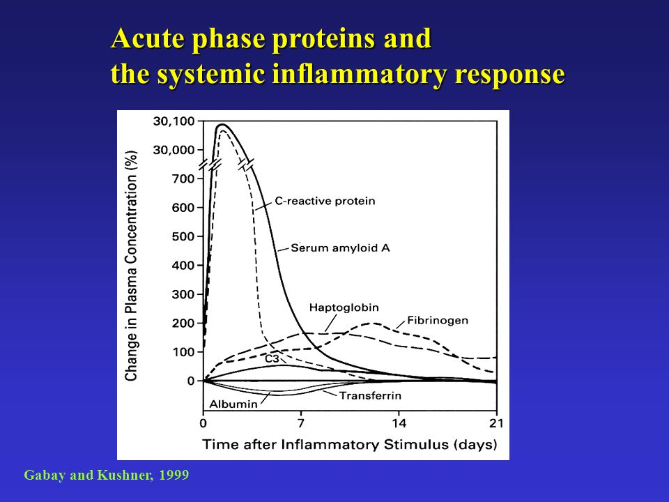 Acute phase proteins and the systemic inflammatory response