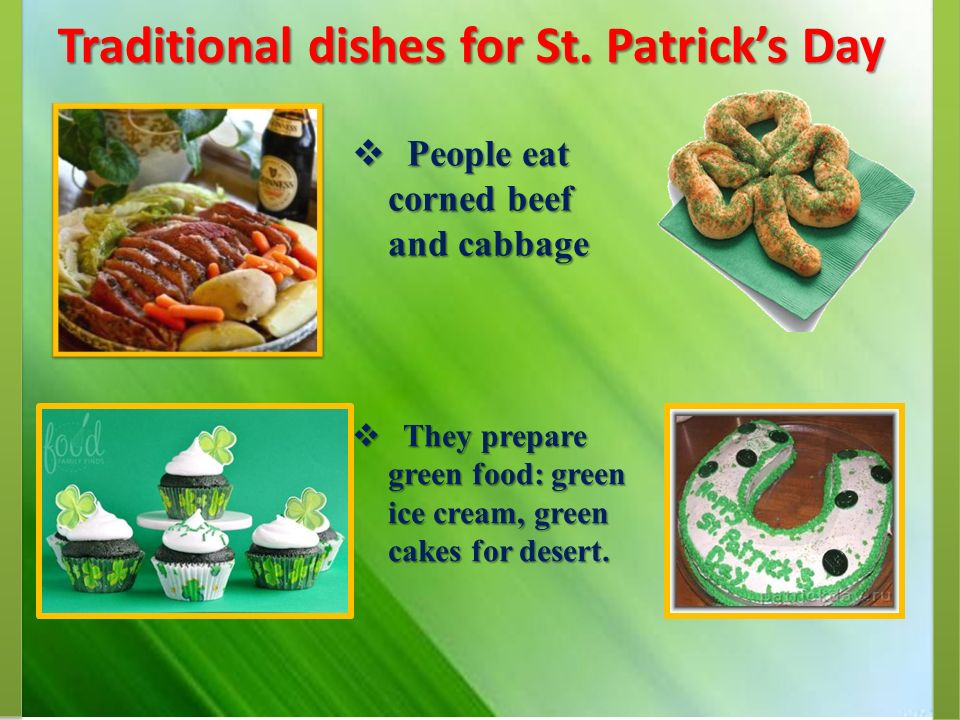 Traditional dishes for St. Patrick's Day