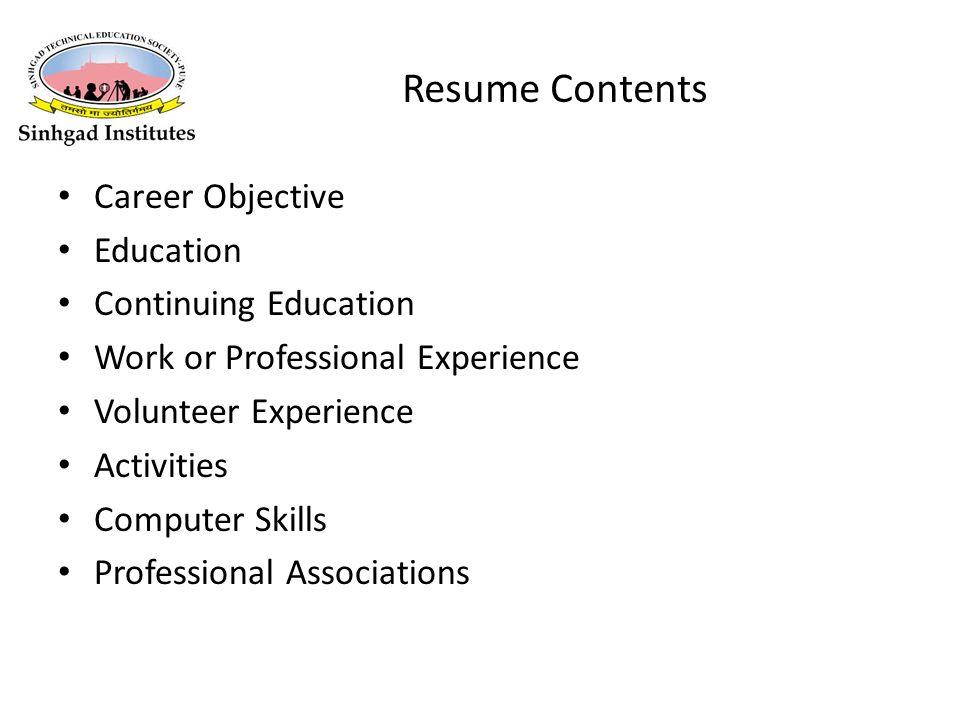 3 Resume ...
