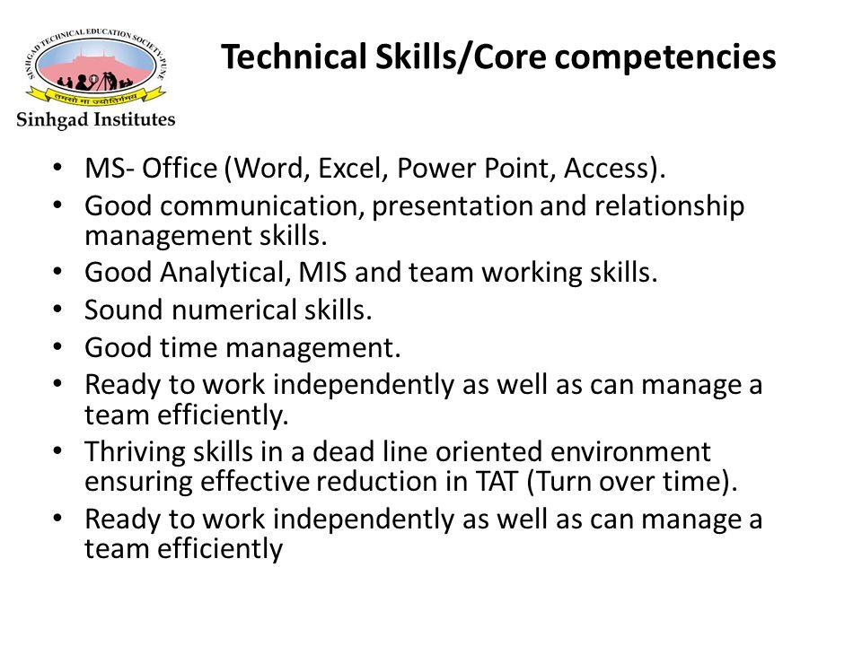 9 technical skillscore competencies - Office Technical Skills