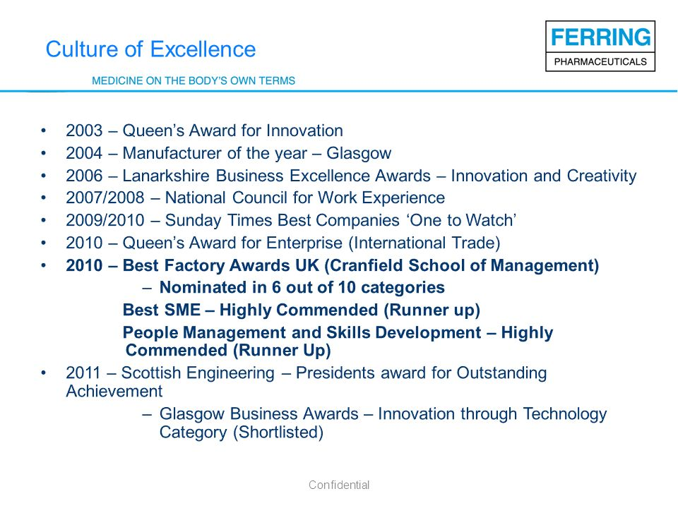 Culture of Excellence 2003 – Queen's Award for Innovation