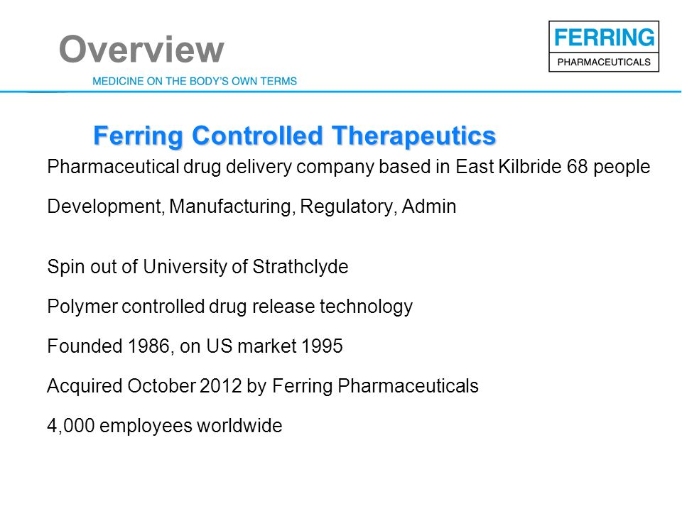 Ferring Controlled Therapeutics