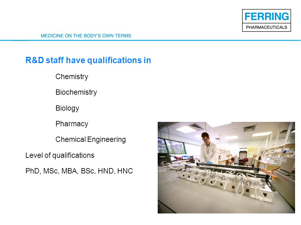 R&D staff have qualifications in
