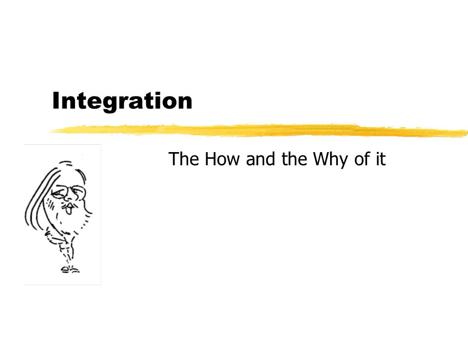 Integration The How and the Why of it