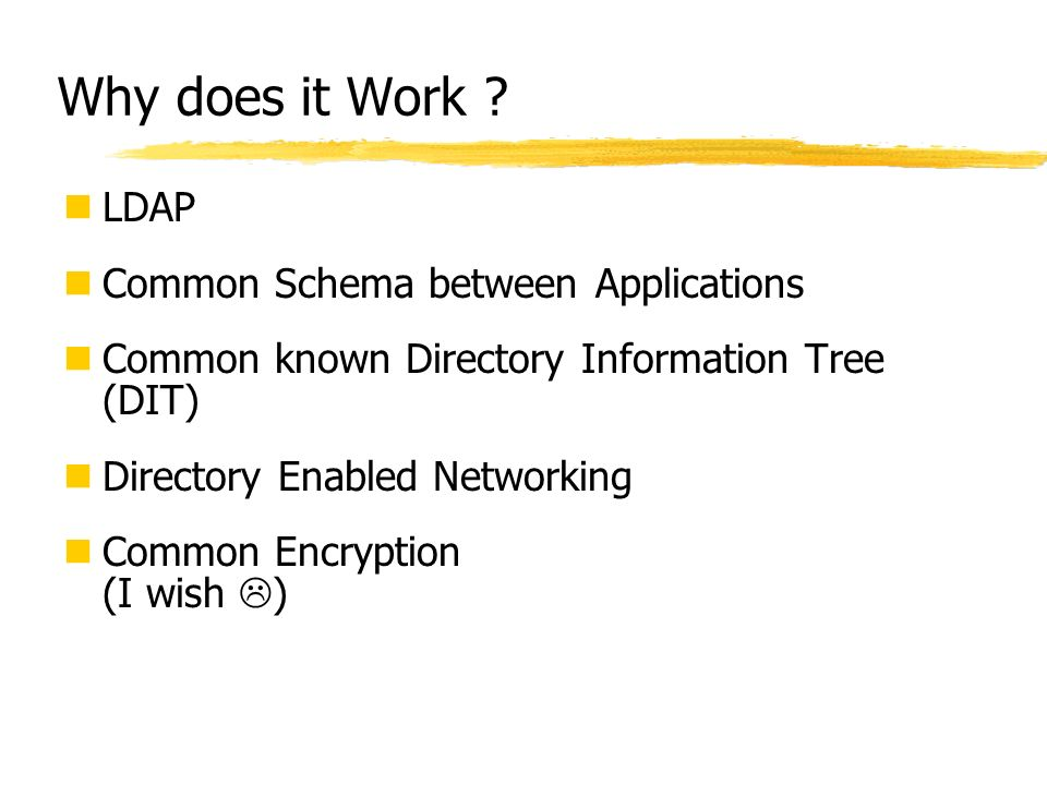 Why does it Work LDAP Common Schema between Applications