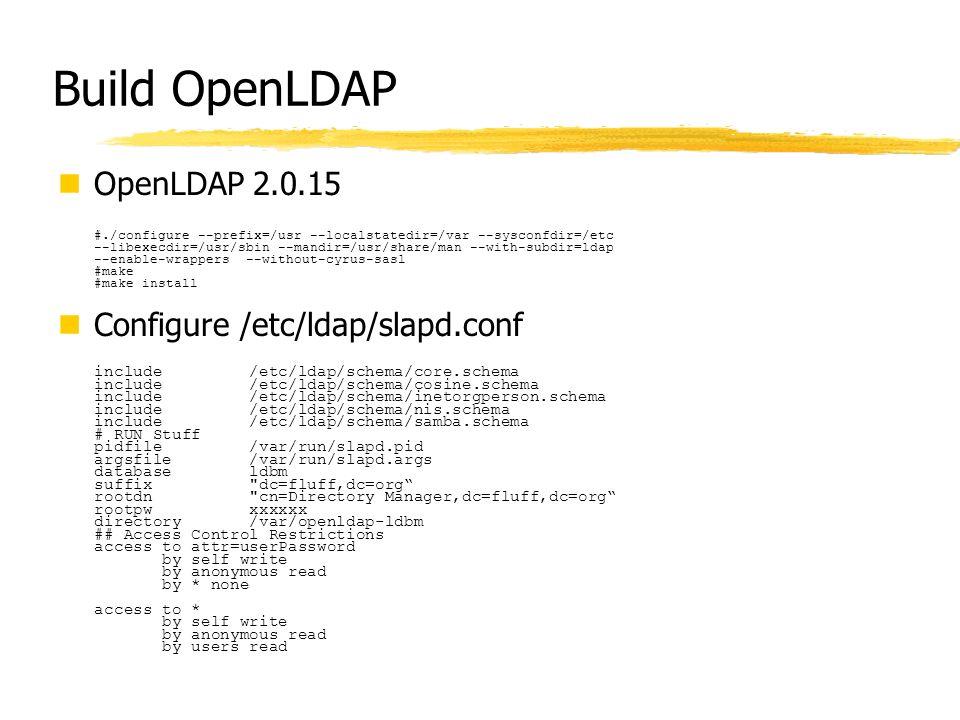 Build OpenLDAP