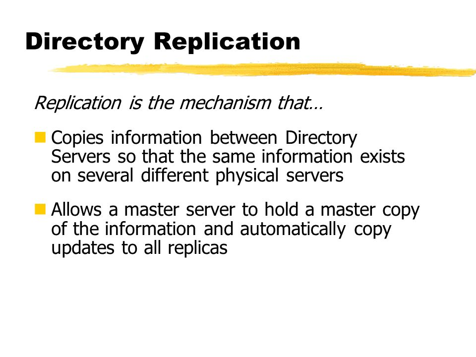 Directory Replication