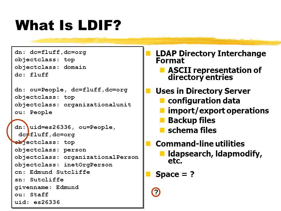 What Is LDIF LDAP Directory Interchange Format