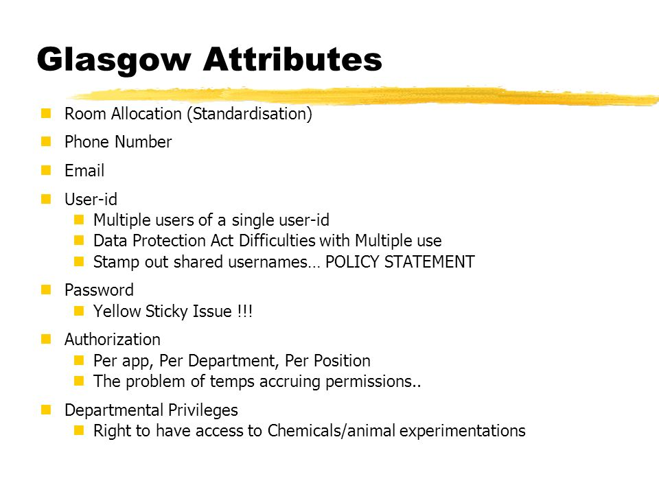Glasgow Attributes Room Allocation (Standardisation) Phone Number