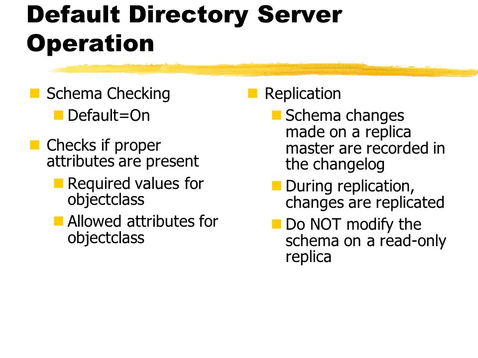 Default Directory Server Operation
