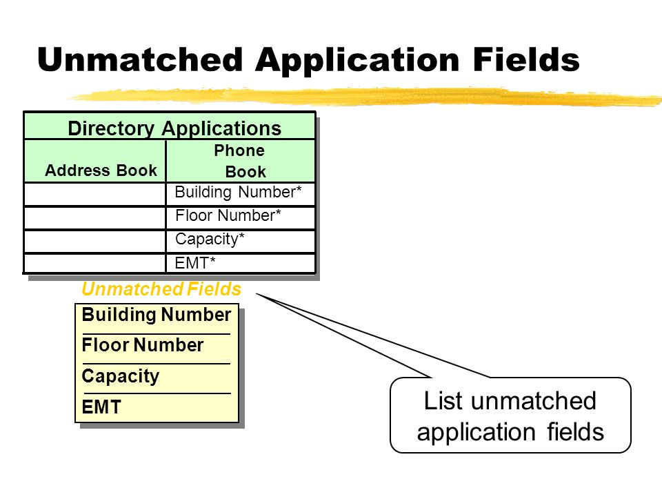 Unmatched Application Fields
