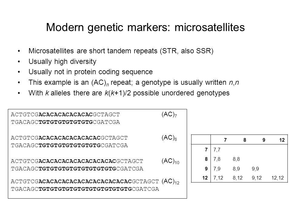 Modern genetic markers: microsatellites