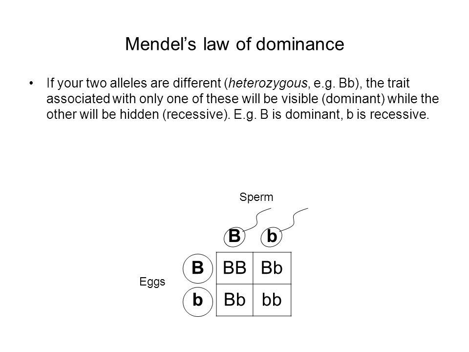 Mendel's law of dominance