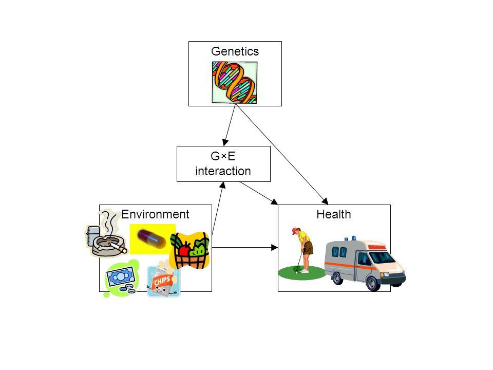 Genetics G×E interaction Environment Health