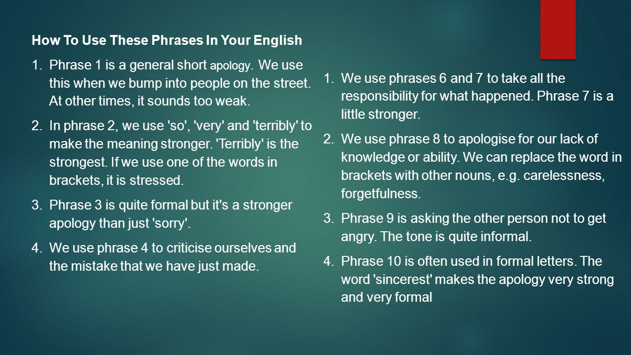 How To Use These Phrases In Your English