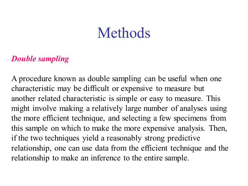 Methods Double sampling