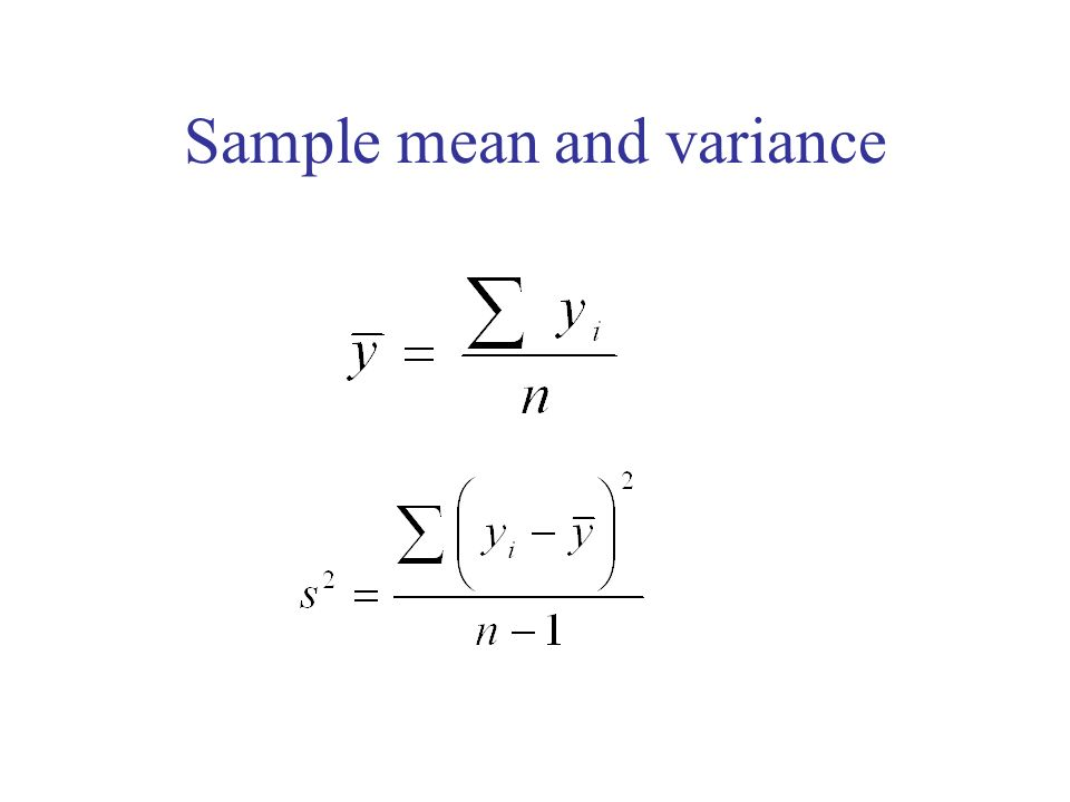 Sample mean and variance