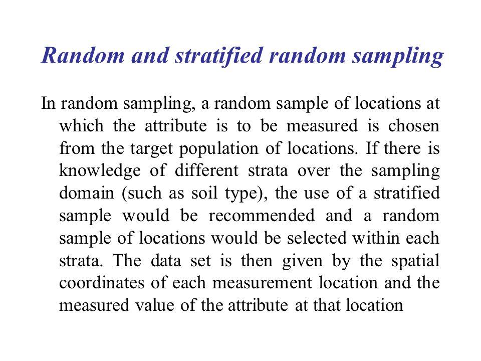 Random and stratified random sampling