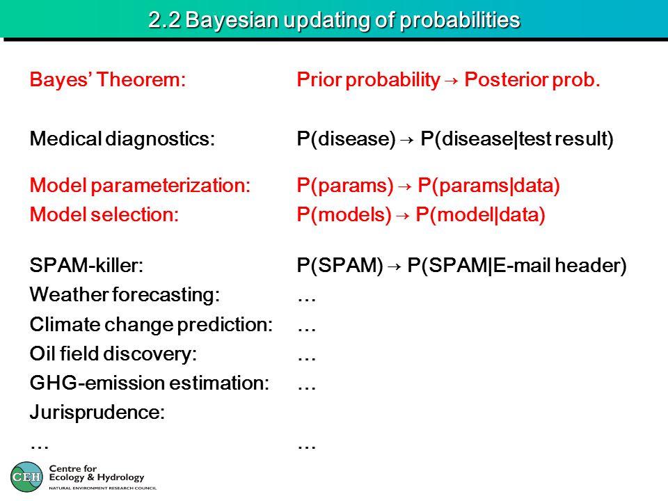 2.2 Bayesian updating of probabilities