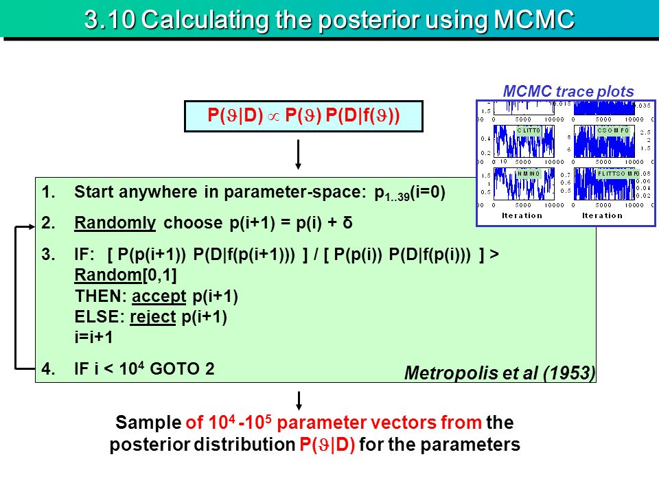 3.10 Calculating the posterior using MCMC