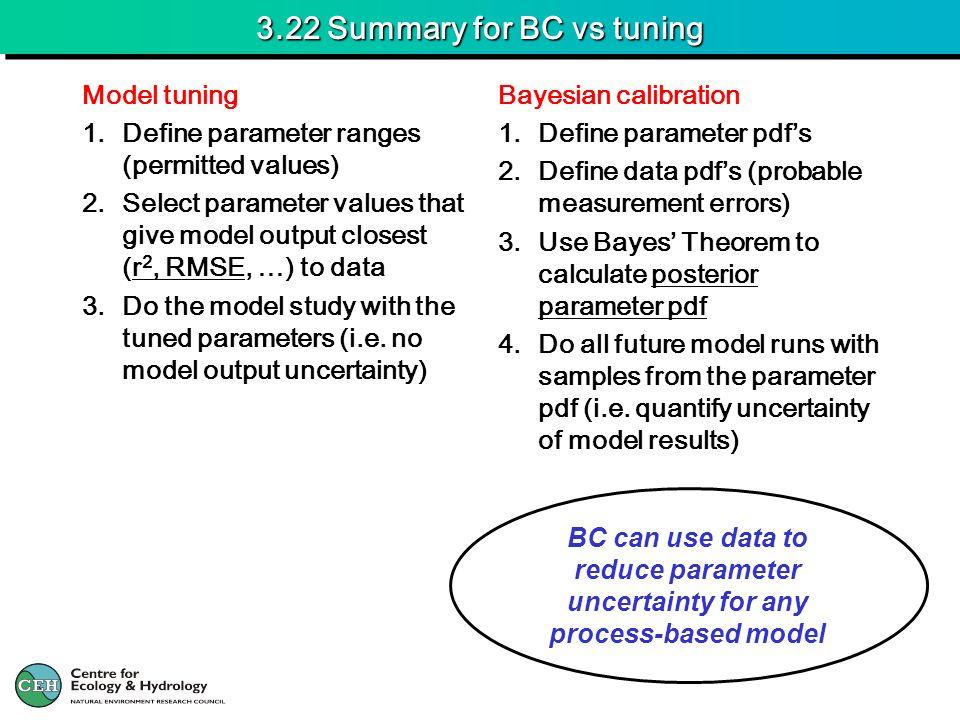 3.22 Summary for BC vs tuning