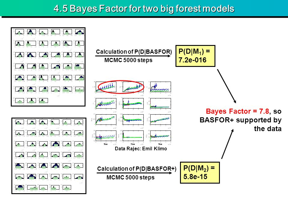 4.5 Bayes Factor for two big forest models