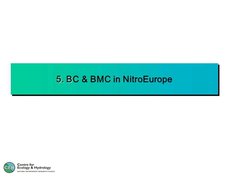 5. BC & BMC in NitroEurope