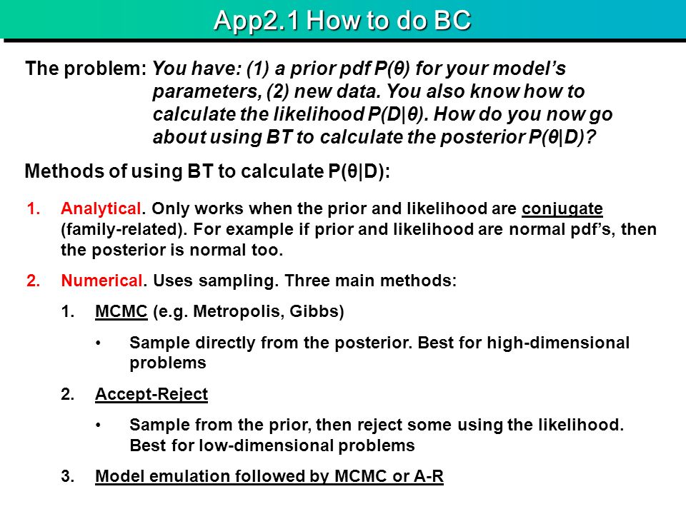 App2.1 How to do BC