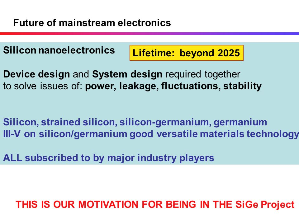 Future of mainstream electronics