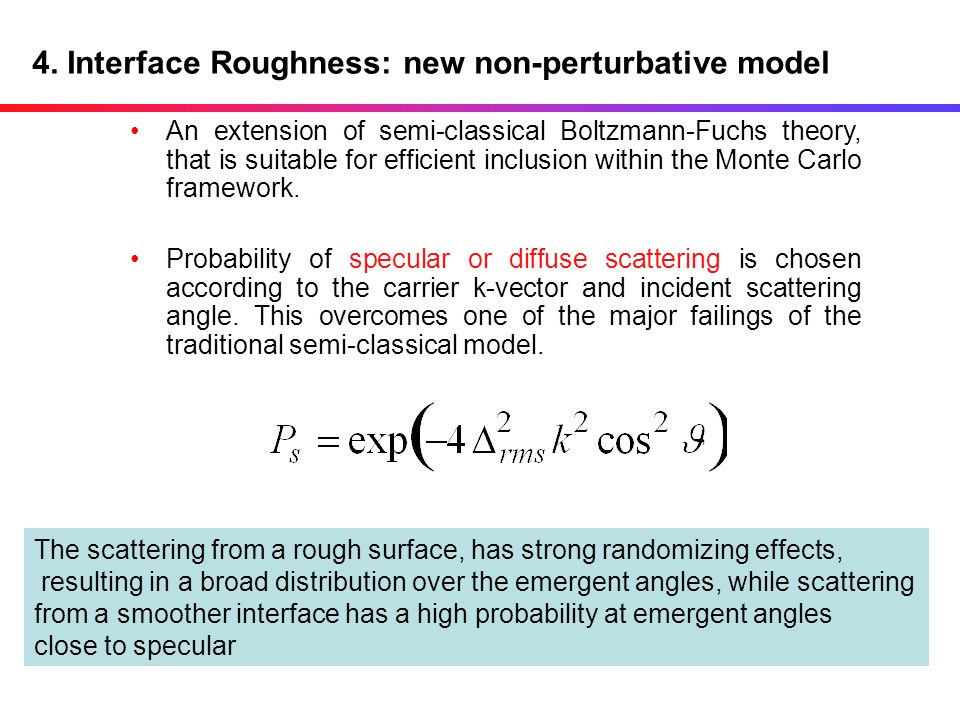 4. Interface Roughness: new non-perturbative model