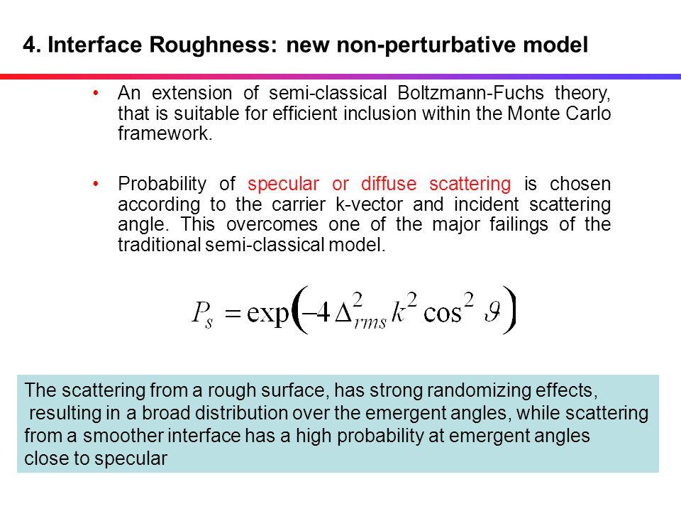 4. Interface Roughness: new non-perturbative model