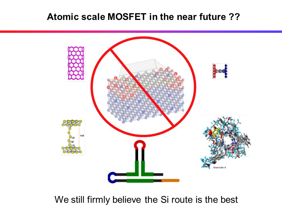 Atomic scale MOSFET in the near future
